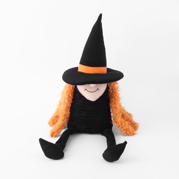 Halloween Crinkle Witch Dog Toy