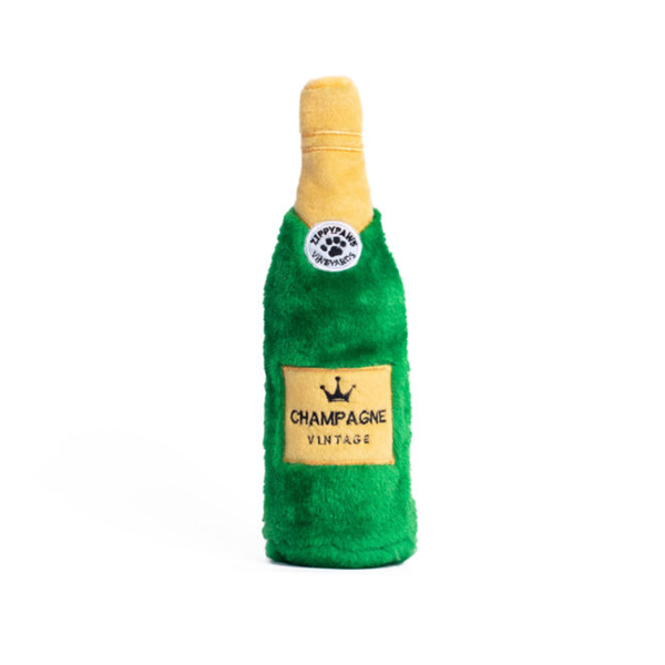 Happy Hour Crusherz Champagne Bottle Crinkle Dog Toy