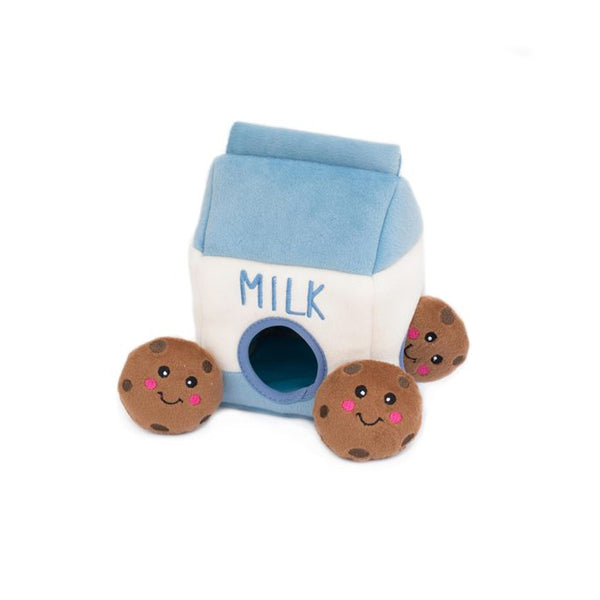 Milk & Cookies Hide and Seek Dog Toy