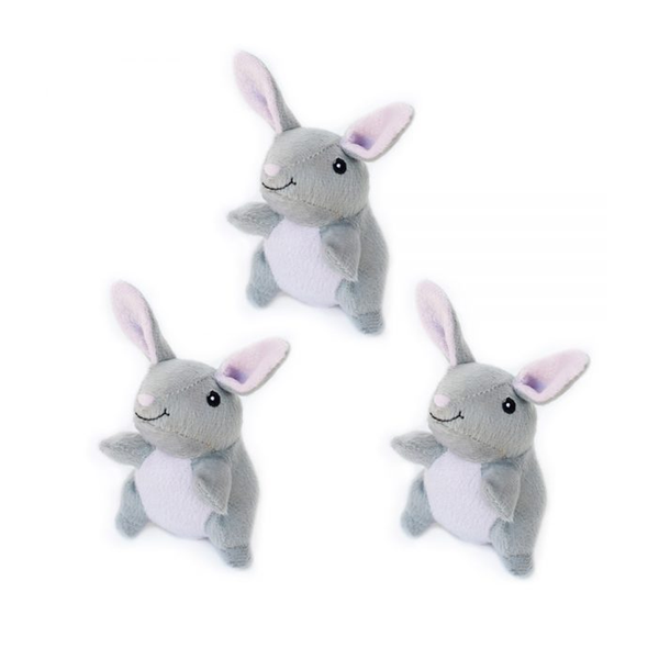 Mini Bunny Plush Squeaker Dog Toy