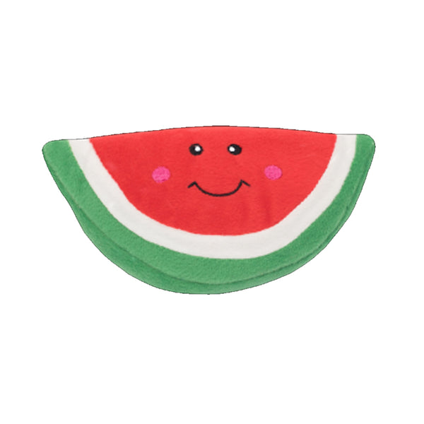 NomNomz Watermelon Plush Squeaker Dog Toy