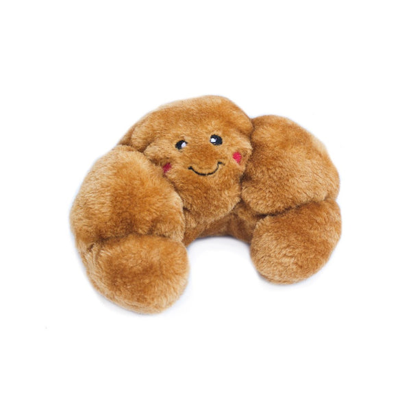 NomNomz Croissant Plush Squeaker Dog Toy