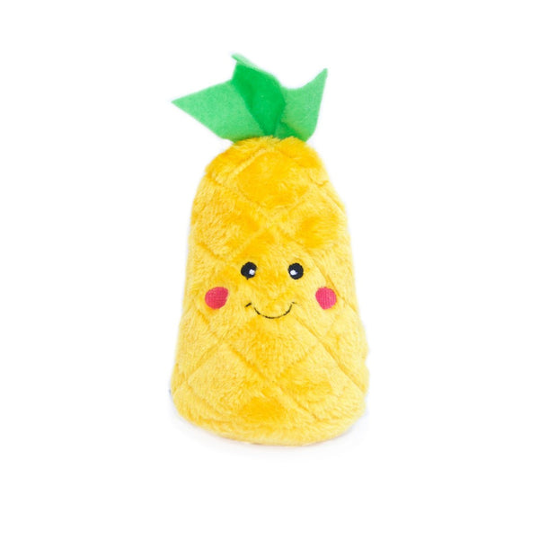 NomNomz Pineapple Plush Squeaker Dog Toy