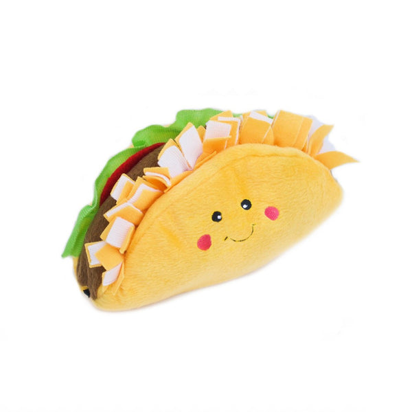 NomNomz Taco Plush Squeaker Dog Toy