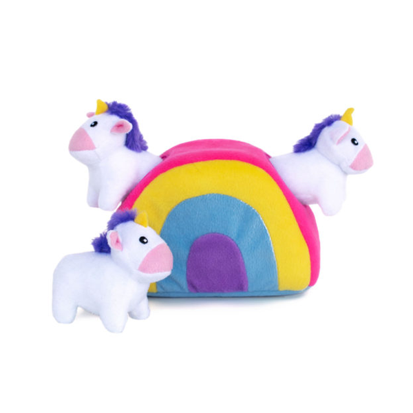 Unicorn & Rainbow Hide and Seek Dog Toy