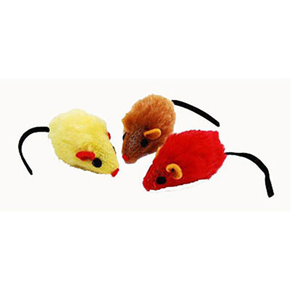 Fuzzy Plush Mice Cat Toy - Lola & Penelope's