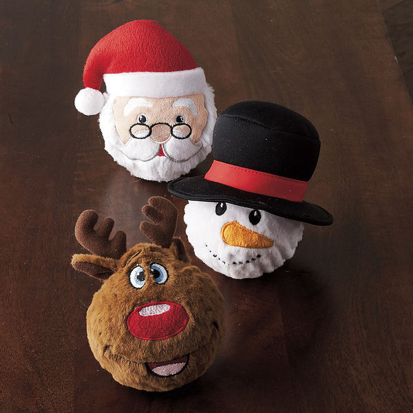 Holiday Squeaking Ball Dog Toy