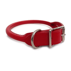 Handcrafted Rolled Leather Dog Collar & Leather Dog Leash - Lola & Penelope's