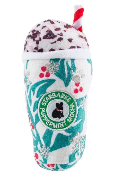 Starbarks Peppermint Mocha Plush Dog Toy