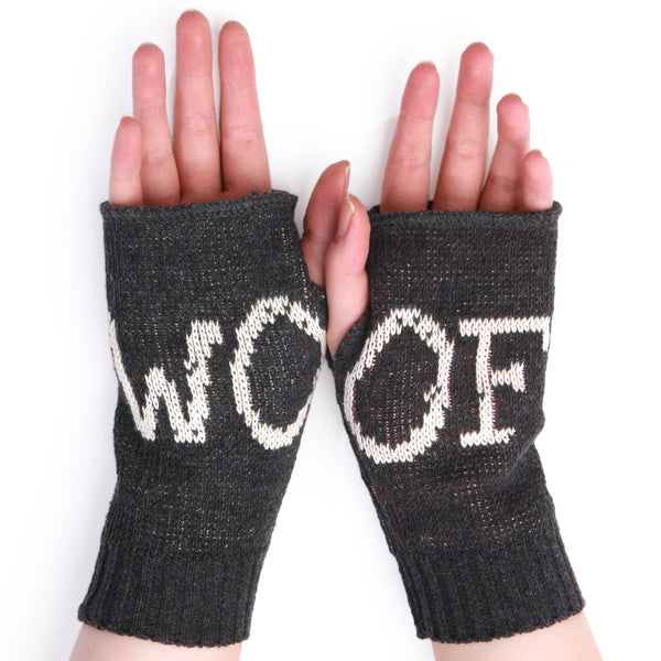 Woof Bean Doggie Hand Warmer Fingerless Gloves