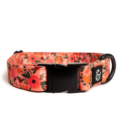 Posy Pink Dog Collar