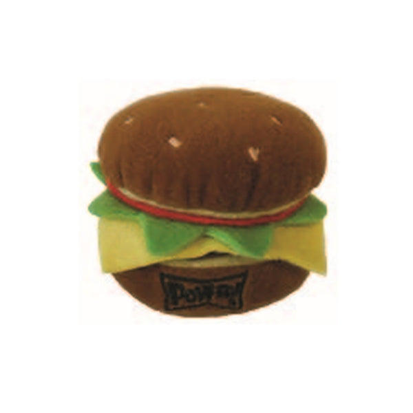 Plush Hamburger Dog Toy