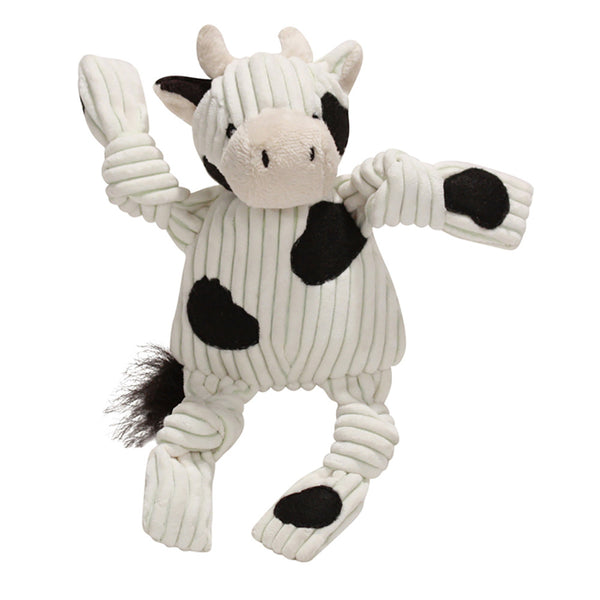 Knotties Cow Plush Dog Toy