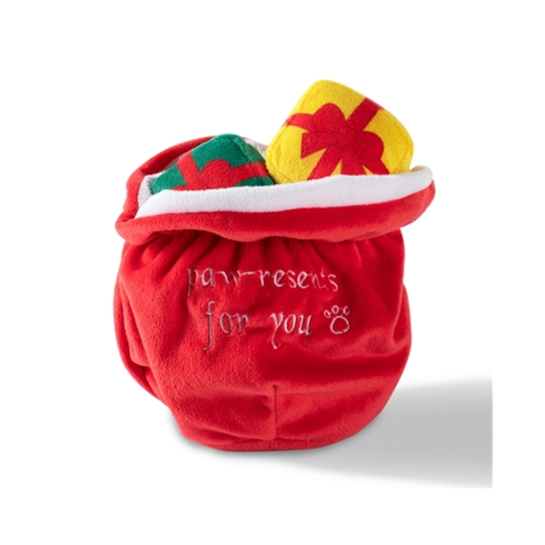 Santa's Sack Hide & Seek Holiday Dog Toy