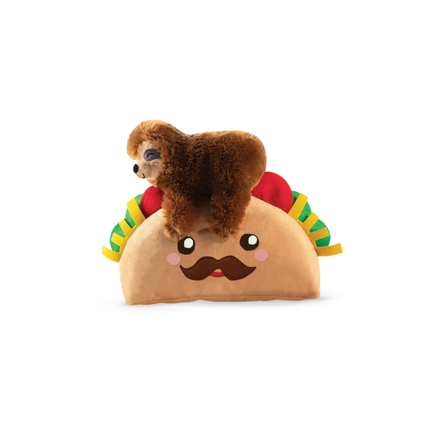 Taco Sloth Dog Toy