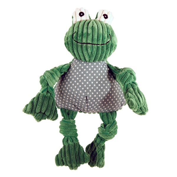 Knotties Frog Plush Dog Toy