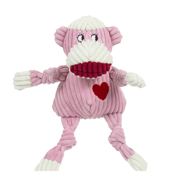 Knotties Ms Sock Monkey Plush Dog Toy