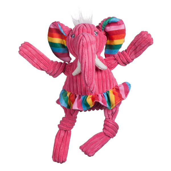 Knotties Rainbow Elephant Plush Dog Toy
