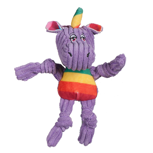 Knotties Rainbow Unicorn Plush Dog Toy