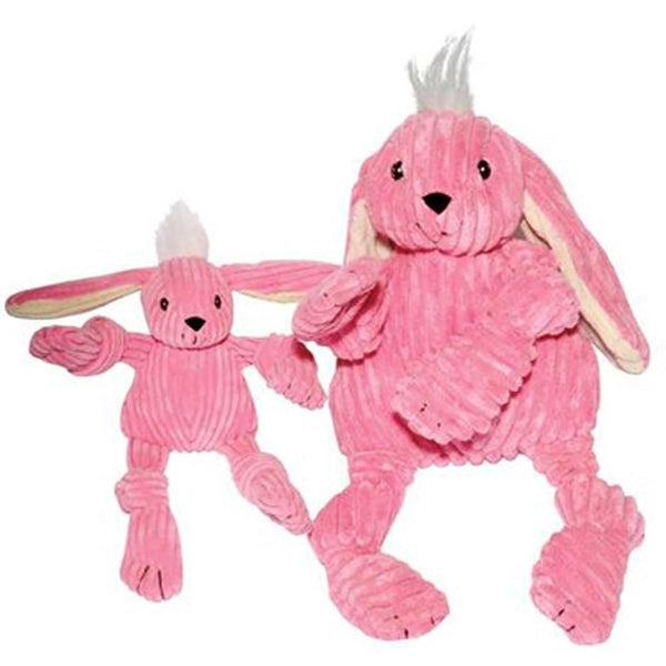 Knotties Pink Bunny Plush Dog Toy