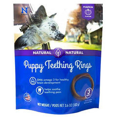 N-Bone Pumpkin Natural Puppy Teething Rings