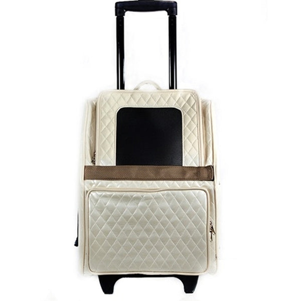 Rio Quilted Rolling Pet Carrier