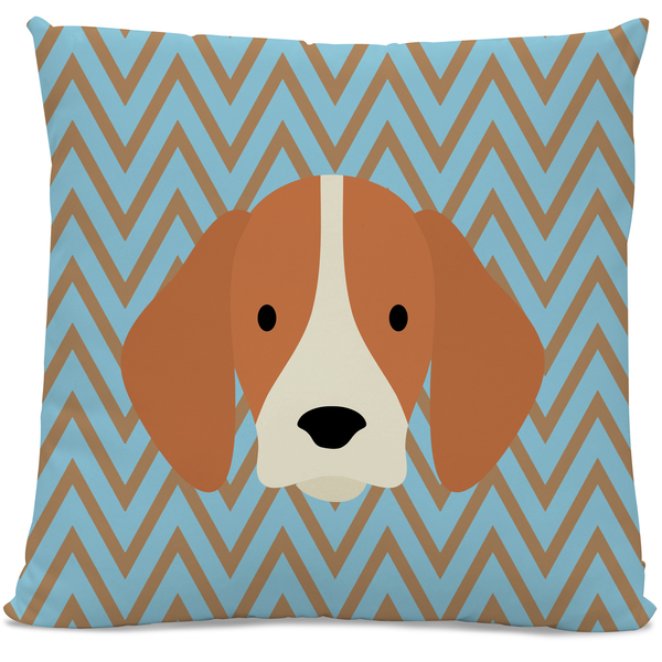 Saint Louis Throw Pillow Beagle Chevron