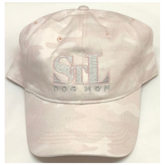 STL Dog Mom Pink Camo Baseball Cap