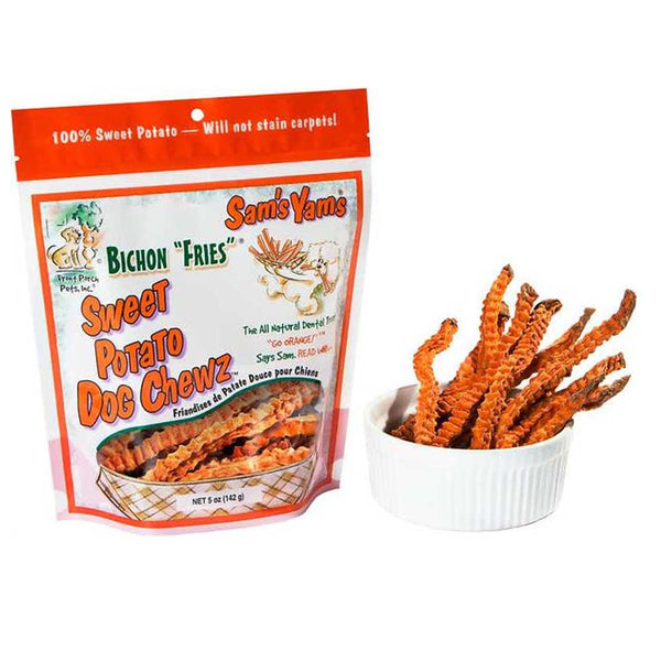 "Sams Yam's ""Bichon Fries"" Sweet Potato Dog Chews"