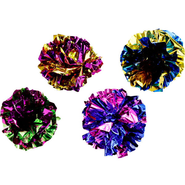 Mylar Crinkle Ball Cat Toy
