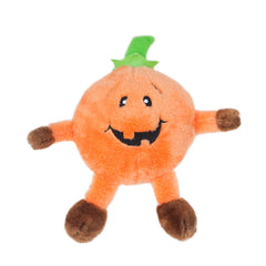 Halloween Brainey Pumpkin Plush Squeaker Dog Toy