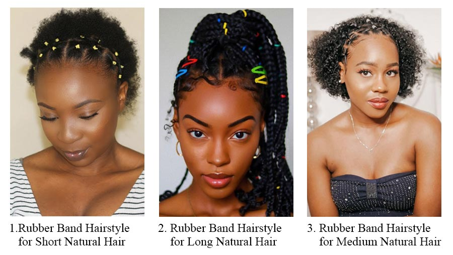 15 CUTE RUBBER BAND WIGS STYLES