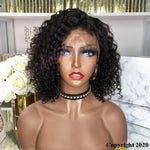 Indian Remy 13 X 6 Human Hair Front Lace Wig Curly (2038)