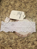 Frilly Frocks Child Size L White Lace Girl's Hair Accessory