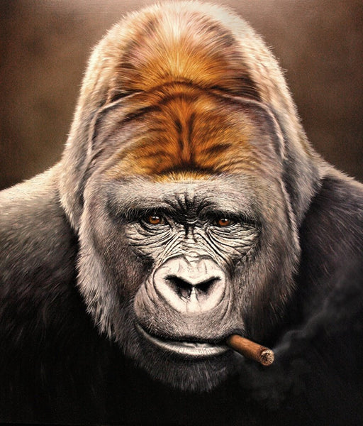 smoking gorilla