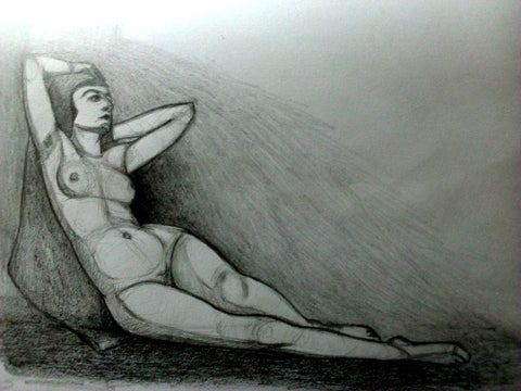 Nude Lady Laying Down