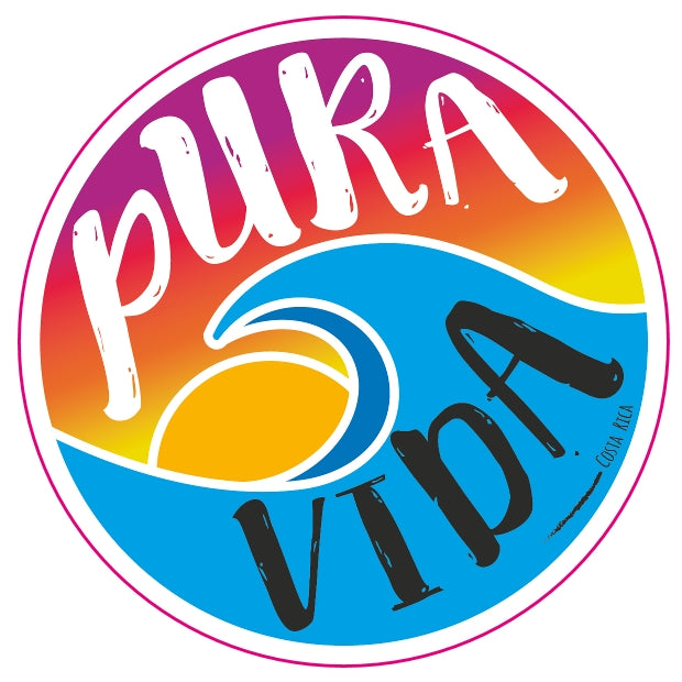 Pura Vida Wave Die Cut Sticker - Slothtoescr