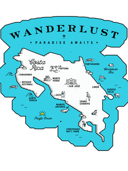 Wanderlust Die-Cut Sticker - Slothtoescr