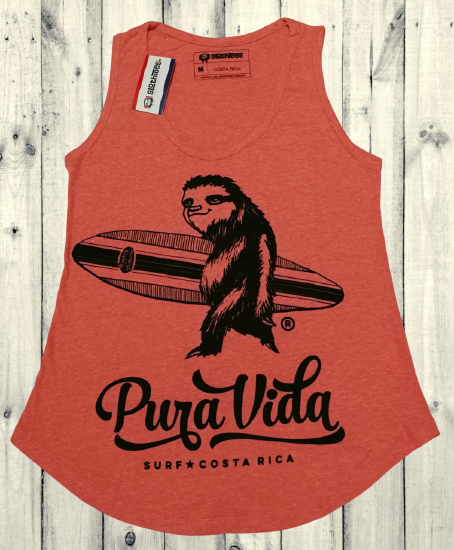 Surfing Sloth Women's  Tank