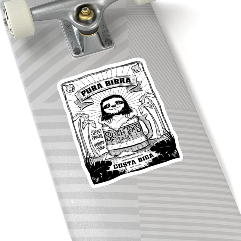 Pura Birra Die Cut Sticker - Slothtoescr