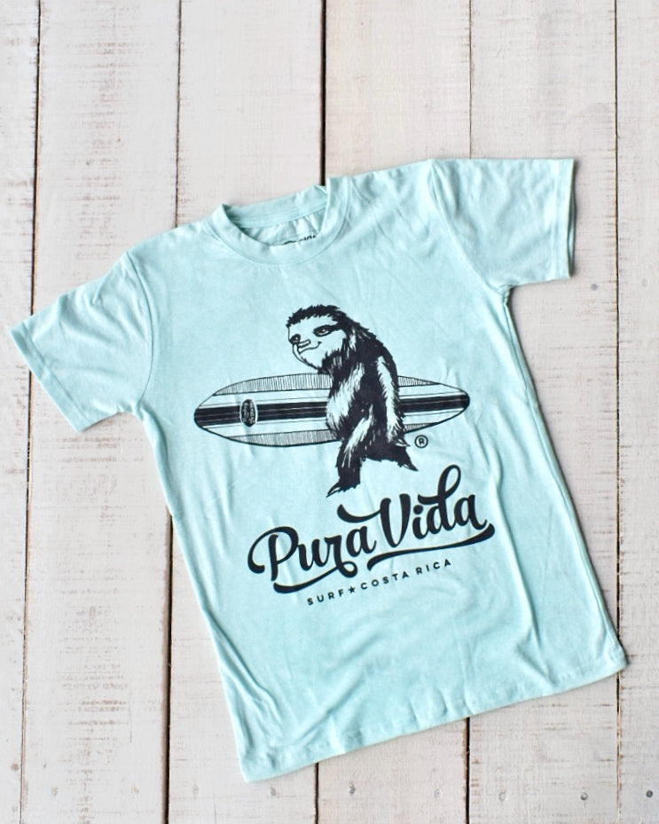 Surfing Sloth Kid's T-shirt