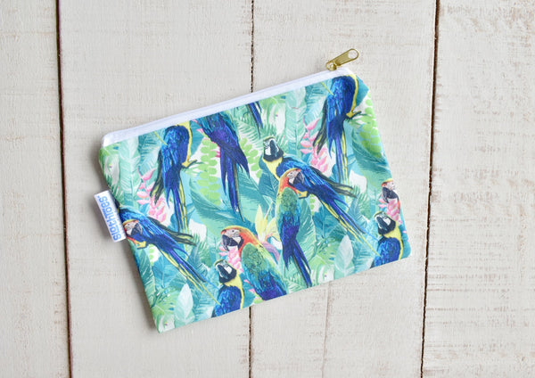 Surfer Macaw Accessory Pouch