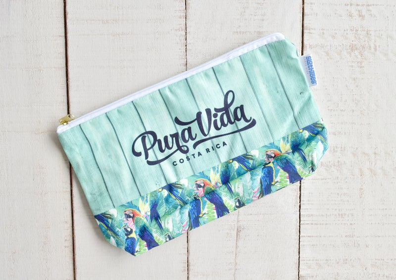 Surfer Macaw  Large Cosmetic bag