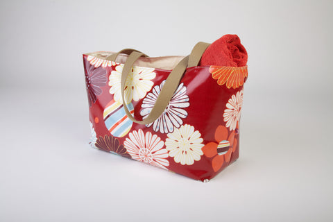 Red Flower Beach Bag