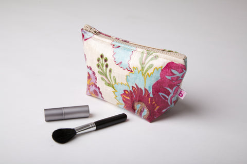 Exotic Floral Make up Bag
