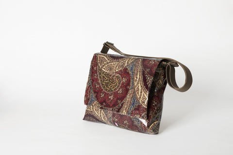 Brown Paisley Shoulder Bag