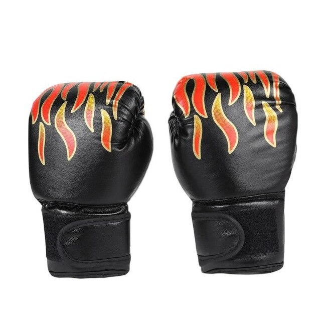 2pcs Boxing Training Fighting Gloves Leather Kid Sparring Kickboxing Karate