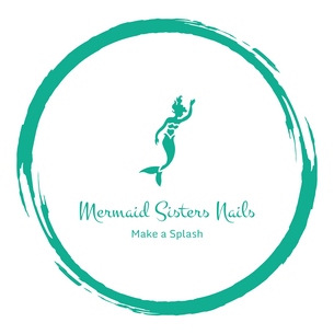 Mermaid Sisters Nails Logo Make a Splash