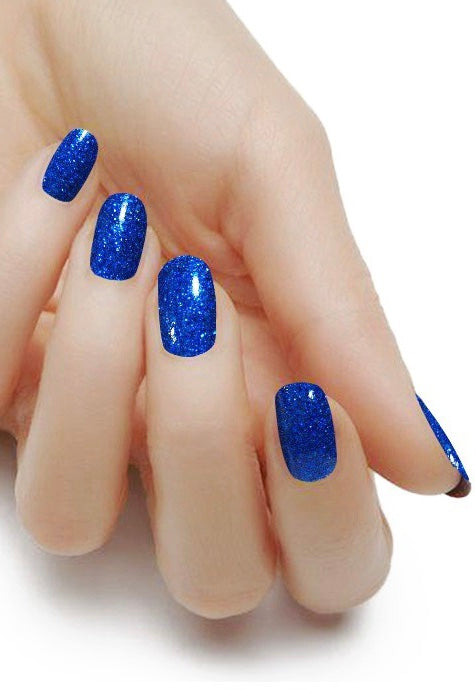 Glitter Plush Royal Blue
