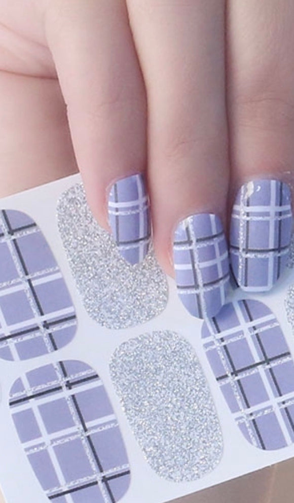Quick Dip Silver Sparkle Plaid